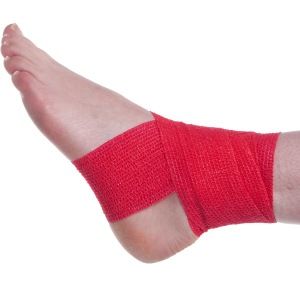 Cohesive Bandage Basic Ankle Wrap