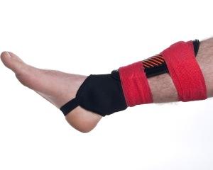 Cohesive Bandage Shin Pad Wrap