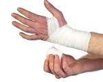 Wrapping the Hands with Gauze for Boxing