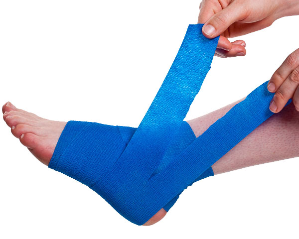Wrapping a Sprained Ankle Step 4