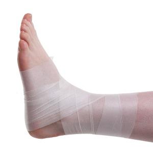 Foam Underwrap Applied to an Ankle