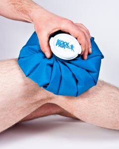 Ice Bag on Knee