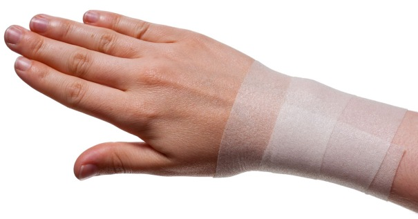Wrist Taping for Rugby etc... | Step 1: Underwrap | Physical Sports First Aid