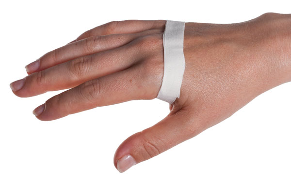 Sprained Knuckle Taping Step 1 | Physical Sports First Aid