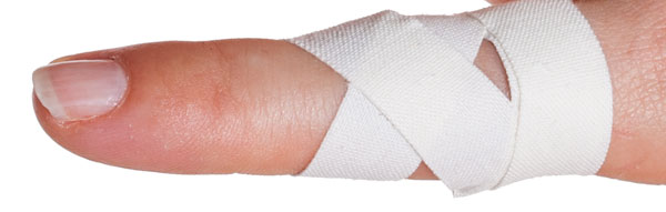 Finger Taping Finished Close Up | Physical Sports First Aid