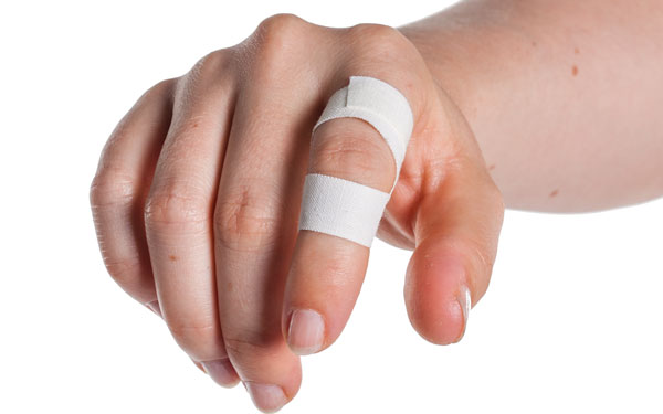 Finger Taping to Prevent Extension | Step 6 - Front-On View | Physical Sports First Aid