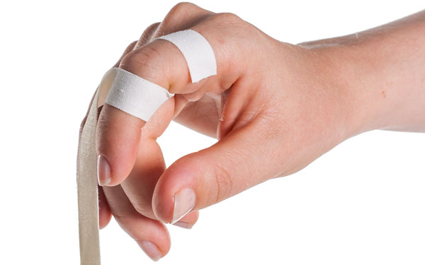 Finger Taping to Prevent Extension | Step 2 | Physical Sports First Aid
