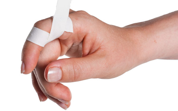 Finger Taping to Prevent Extension | Step 3 | Physical Sports First Aid