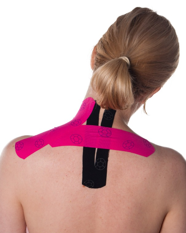 Kinesiology Tape for Upper Back and Shoulders Step 2 | Physical Sports First AId