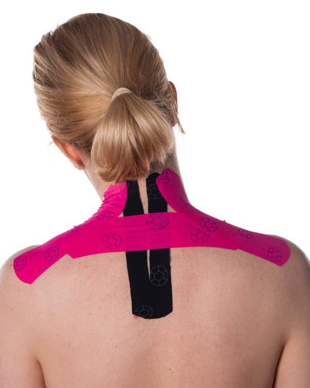 Kinesiology Taping for Upper Back and Shoulders Step 3 | Physical Sports First Aid