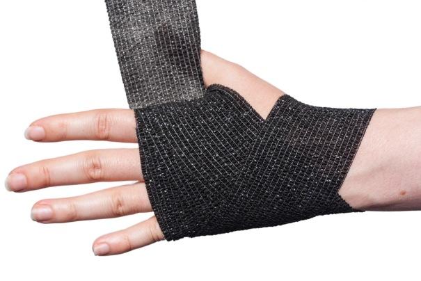 Cohesive Bandage Wrist Wrap Step 5