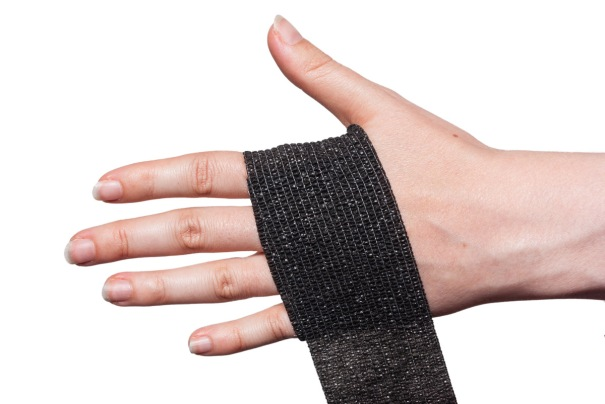 Cohesive Bandage Wrist Wrap Step 1