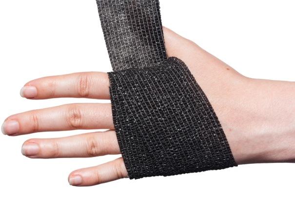 Cohesive Bandage Wrist Wrap Step 2