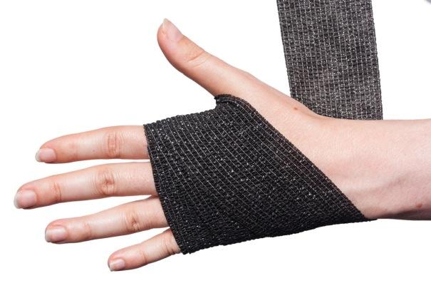 Cohesive Bandage Wrist Wrap Step 3