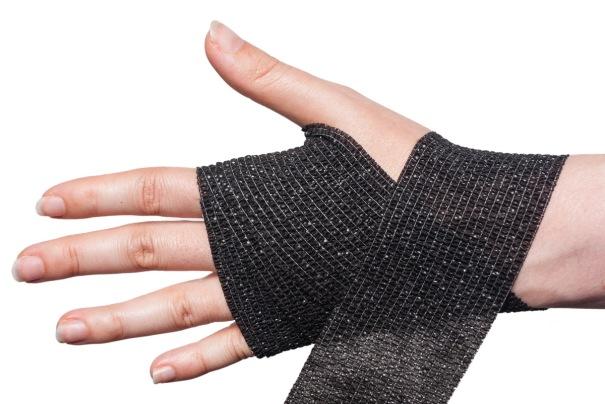 Cohesive Bandage Wrist Wrap Step 4