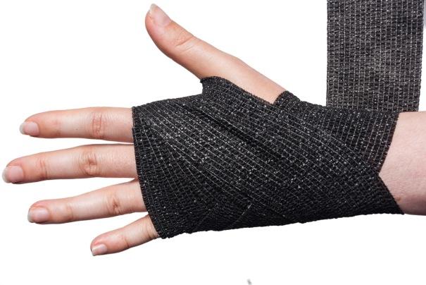 Cohesive Bandage Wrist Wrap Step 6