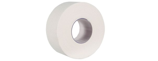 A roll of white zinc oxide tape