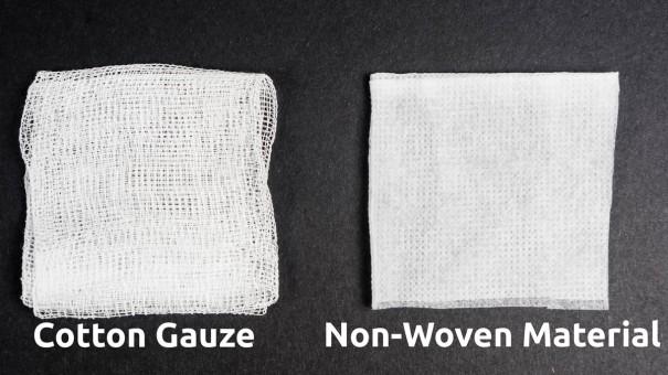 Cotton Gauze vs Non-Woven Material